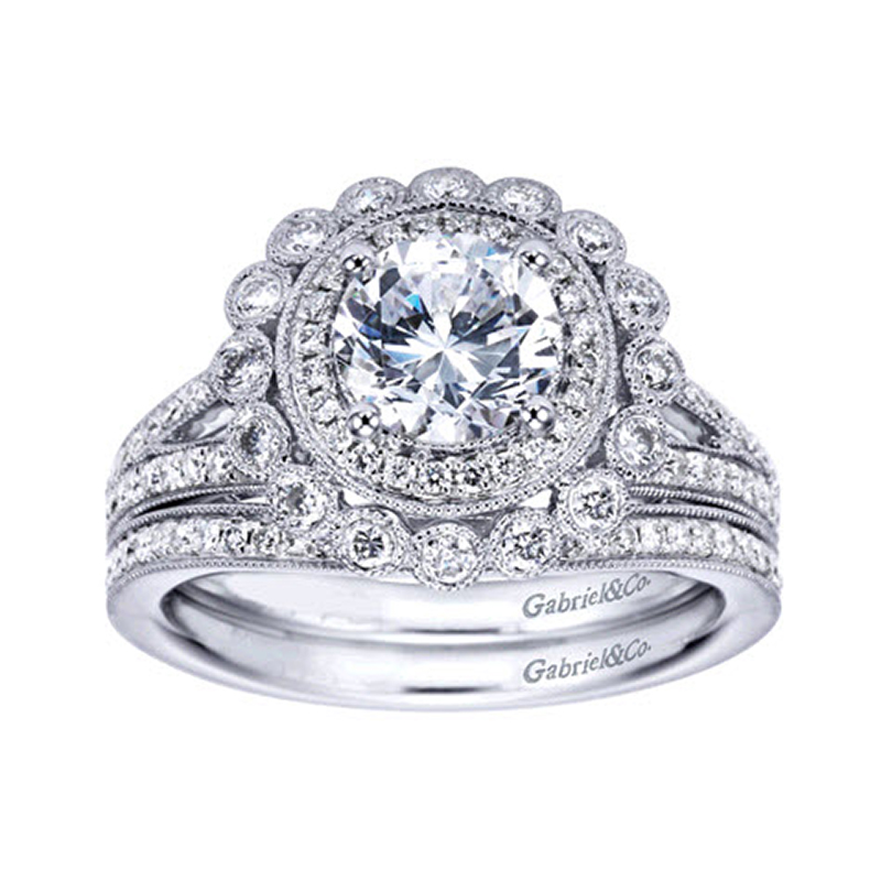 ring stones platinum vintage rings stone round amavida gabriel products mounting diamond tallulah engagement
