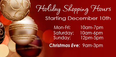 holiday hours start december 10th and were open christmas eve - Christmas Eve Store Hours