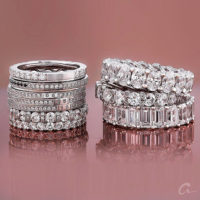 A.jaffee collection of luxurious diamond wedding and anniversary bands