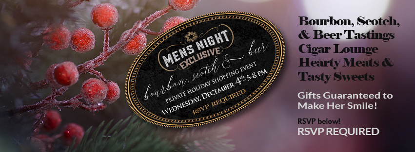Men's Night in Morgan Hill - VIP holiday shopping