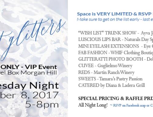 All That Glitters – Ladies Night – Wednesday, Nov 8, 2017