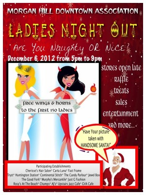 Stores Open Late for Holiday Shopping During Ladies Night Out in Morgan Hill