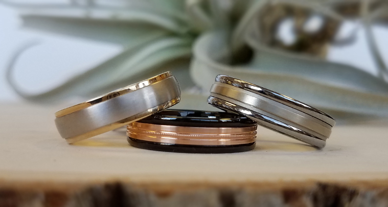 men's collection of wedding bands at jewel box morgan hill