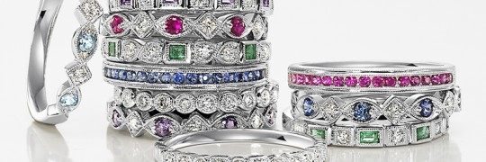 Stackable Rings by Gabriel & Co. Available at Jewel Box Morgan Hill
