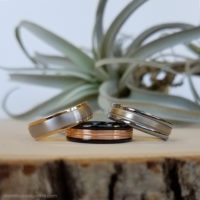 examples of our fine jewelry and timeless wedding bands for him in platinum, gold, tungsten, titanium, and other metals