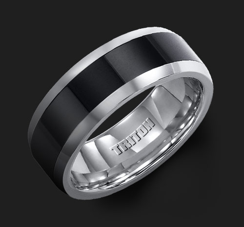 band triton rings tungsten carbide reeds bands black g item