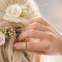 fresh flowers and fine jewelry to accessorize on your wedding day